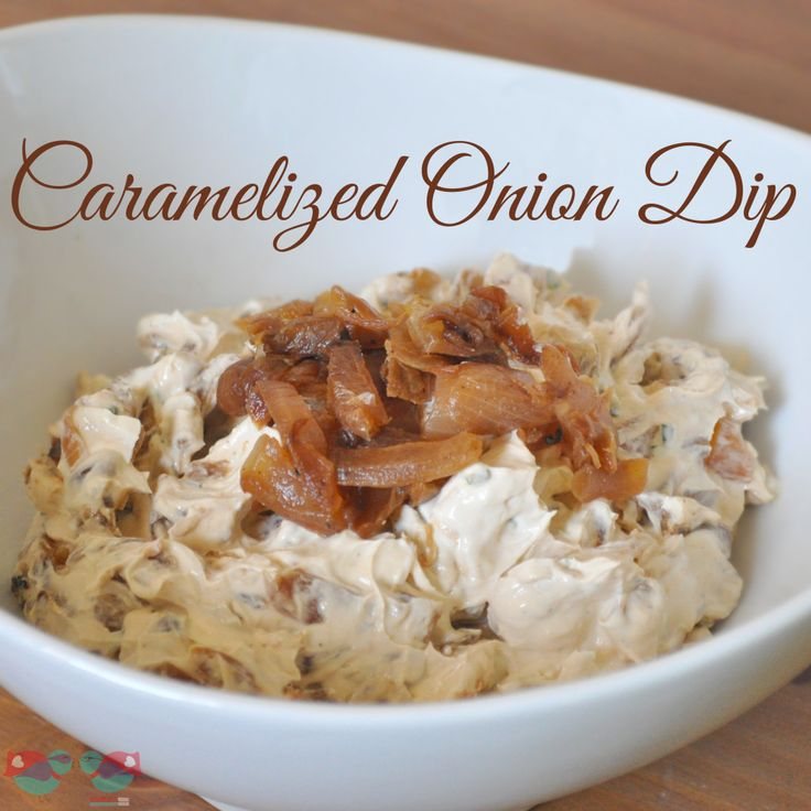 Caramelized Onion Dip  INGREDIENTS: 2 large onions, thinly sliced 2 tbsp unsalted butter 1/2 c warm water 8 oz cream cheese, softened 1 cup sour cream Freshly ground pepper Potato Chips, Pretzels or other side for the dip
