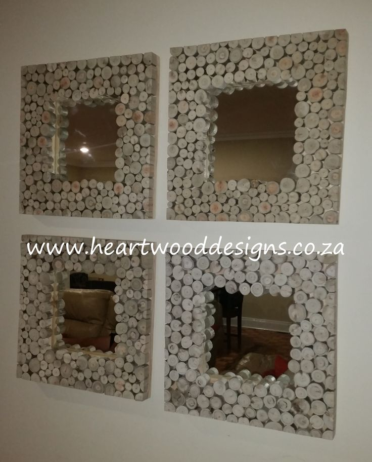 Four mirrors to make a statement.  Three in a row are just as effective.