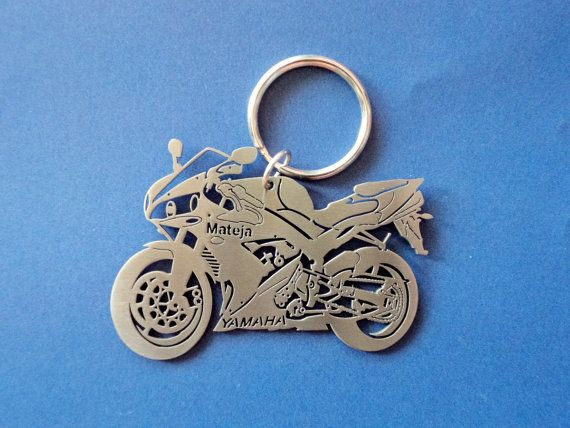 Yamaha R1 2005 Keychain Personalized Keychain by GuestFromThePast
