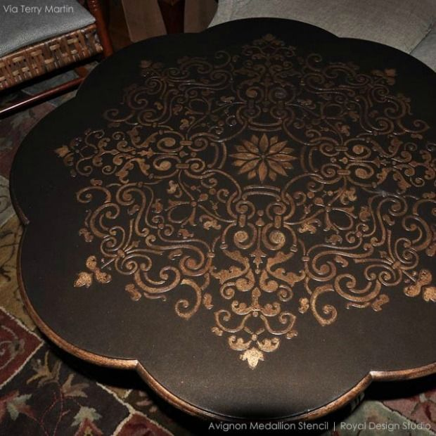 Interior Design Furniture Stencils ~ Best images about stenciled and painted furniture on