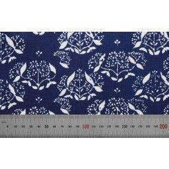 200** tradicni cesky modrotisk rucni vyroba CR   Metráž šíře 80 cm č.3638
