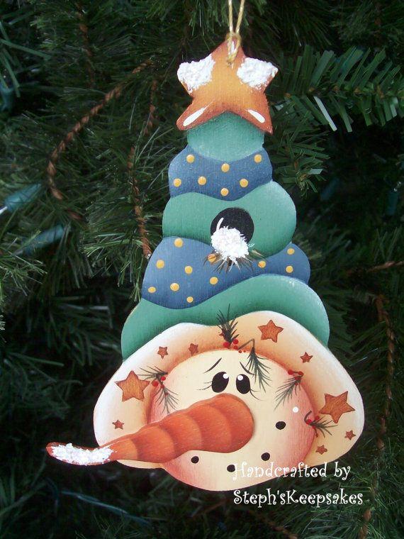 Snowmen Ornament Set Seasonal Holidays por stephskeepsakes en Etsy