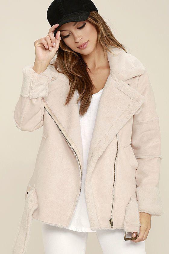 J.o.a. We Go Together Blush Pink Sherpa Coat on Shopstyle.