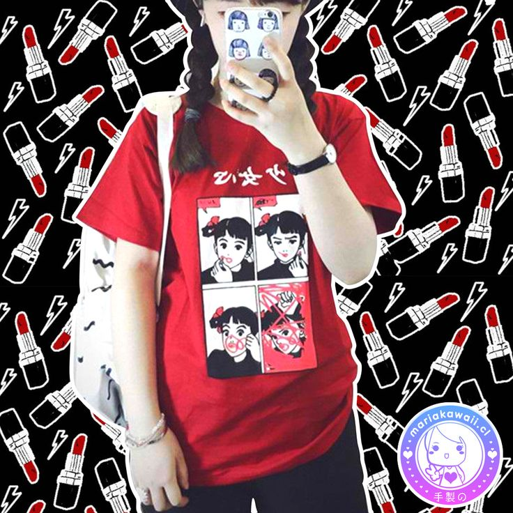 Maria Kawaii Store - Polera lipstick Girl Red