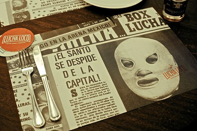 Branding design by Bravo for Lucha Loco, Singapore's first Mexican taqueria.