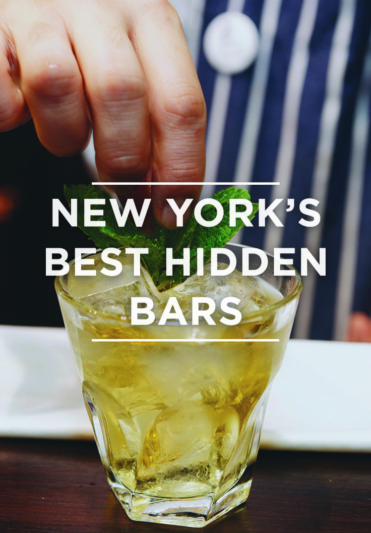 From secret bars in the back of burger joints to subterranean sake dens, we've tracked down some of the NYC's most well-hidden watering holes.