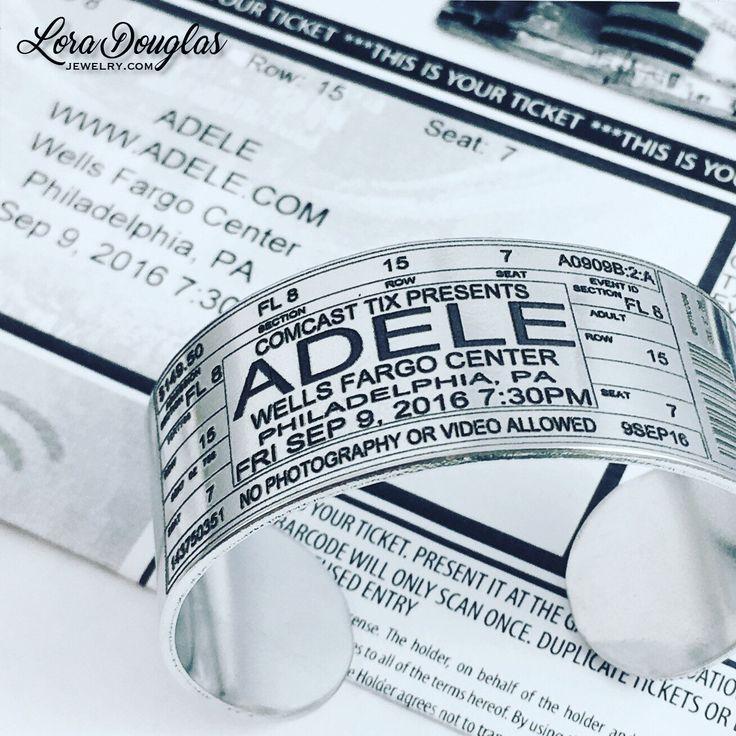 Adele • Concert Ticket Cuff Bracelet  #adele #adeleconcert #adeleconcert2016  #concert #music #adelefans #jewelry #silverjewelry #christmas #christmasshopping #christmasgift #handmade #handmadejewelry #etsyjewelry #fashion #jewellery #bracelet