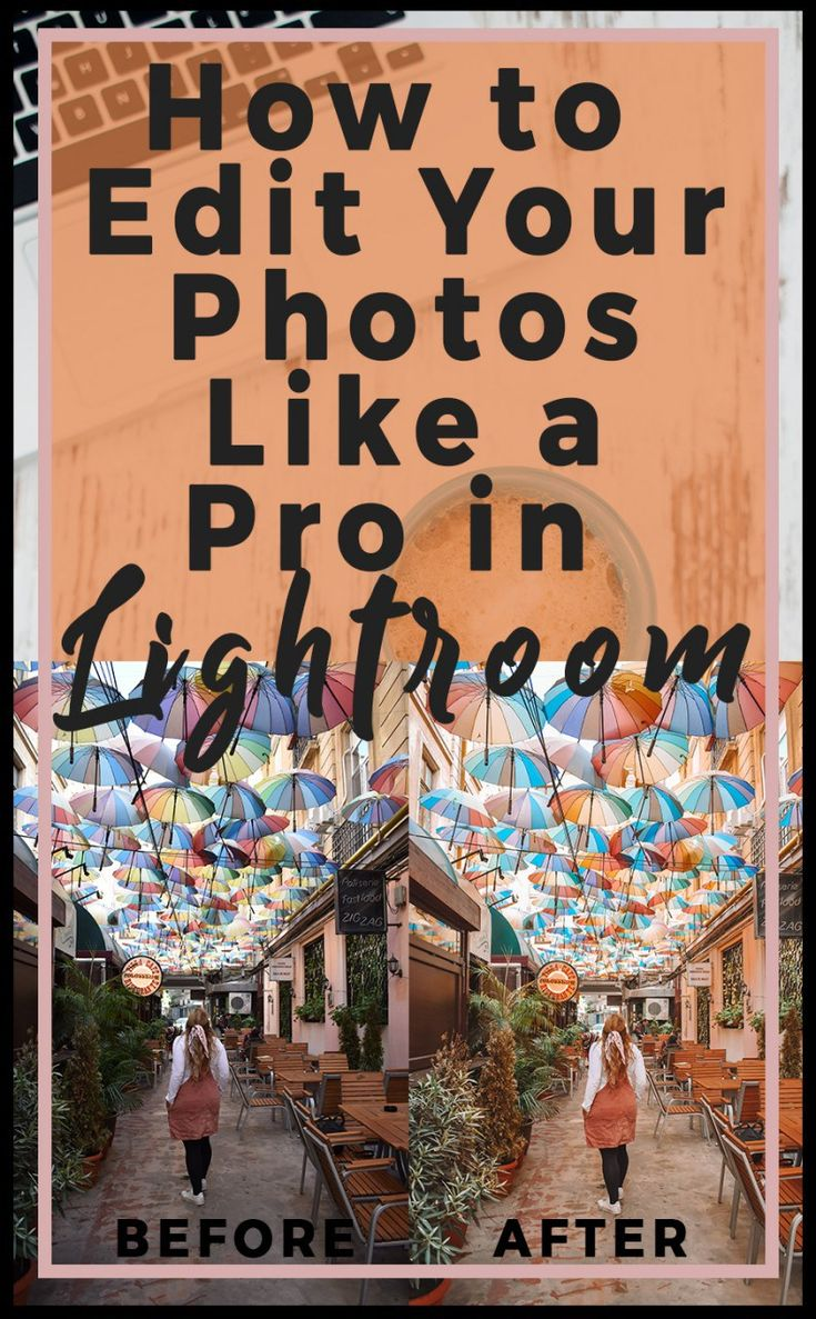 How to Edit Photos Like a Pro in Lightroom. If I could describe my photo editing process in one word it would be: warm. I like my pictures to look warm and bright, like you could easily step right on into them. When I go to edit my photos for my blog or Instagram I want them to feel enhanced, not overly saturated or …
