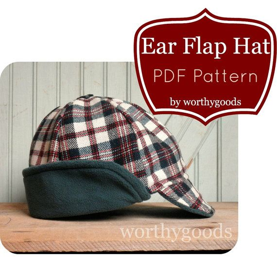 Ear Flap Hat PDF Sewing Pattern Warm Winter Style by worthygoods, $12.50