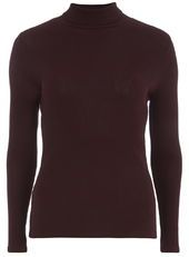australian womens shoes online Plum Roll Neck Top