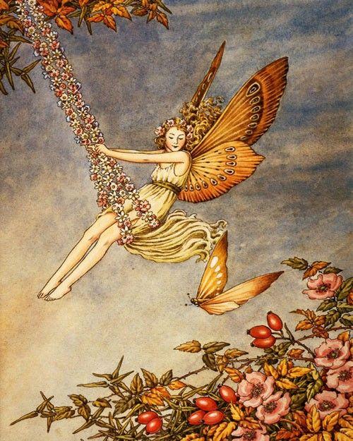 Fairy Swing Vintage Artwork