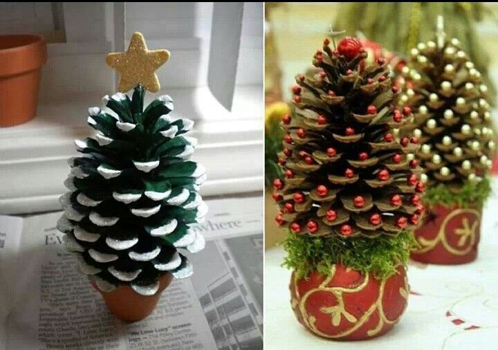 Christmas decorations from pine cones. So easy so get creative.