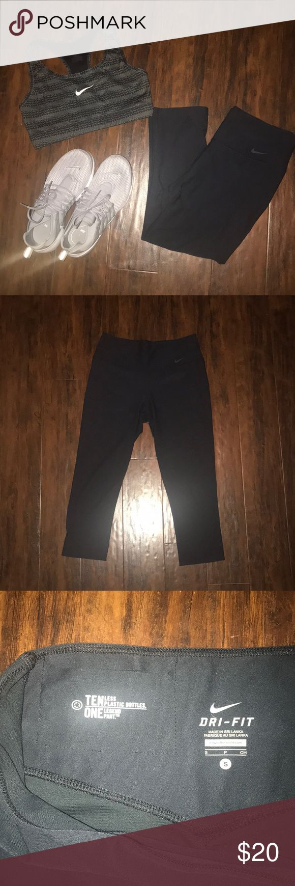 BOGO 1/2 OFF Cropped Nike leggings DRI-FIT cropped black nike leggings, size small, barely worn, great condition ✨make an offer!✨ feel free to comment if you have any questions 😊‼️ALL LISTINGS BUY ONE GET ONE HALF OFF W/ DISCOUNTED SHIPPING❗️(of the two items, the less expensive item will be half off) just make a bundle and I'll re-price‼️ Nike Pants Leggings