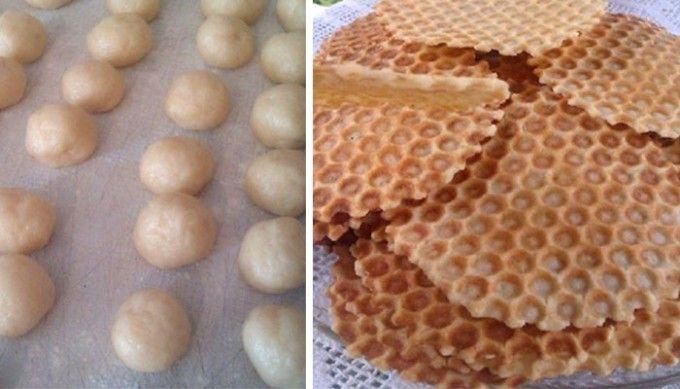 Křupavé sušenky z formy na waffle | NejRecept.cz