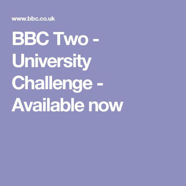 BBC Two - University Challenge - Available now