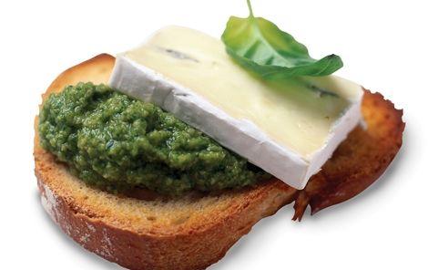 Grønt og dekorativt lille mellemmåltid.