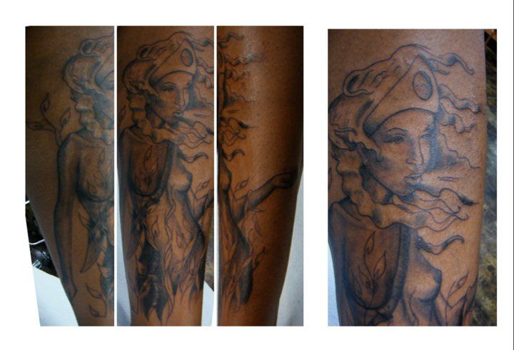 21 best images about tattoos on dark skin on pinterest for Skin gallery tattoo