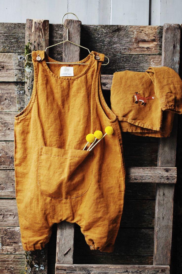 Beautiful Handmade Linen Baby Romper | Lapetitealice on Etsy