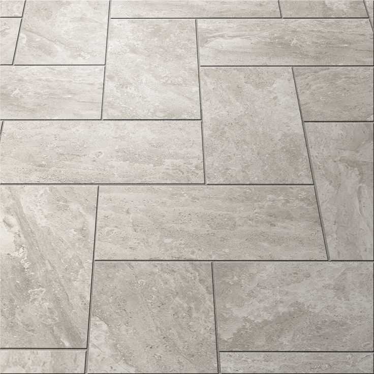 Shop Style Selections Trailden Gray Ceramic Indoor/Outdoor Floor Tile (Common: 12-in x 24-in; Actual: 11.75-in x 23.52-in) at Lowes.com
