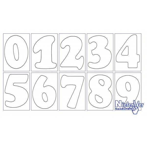 Plantillas de números para imprimir - Imagui