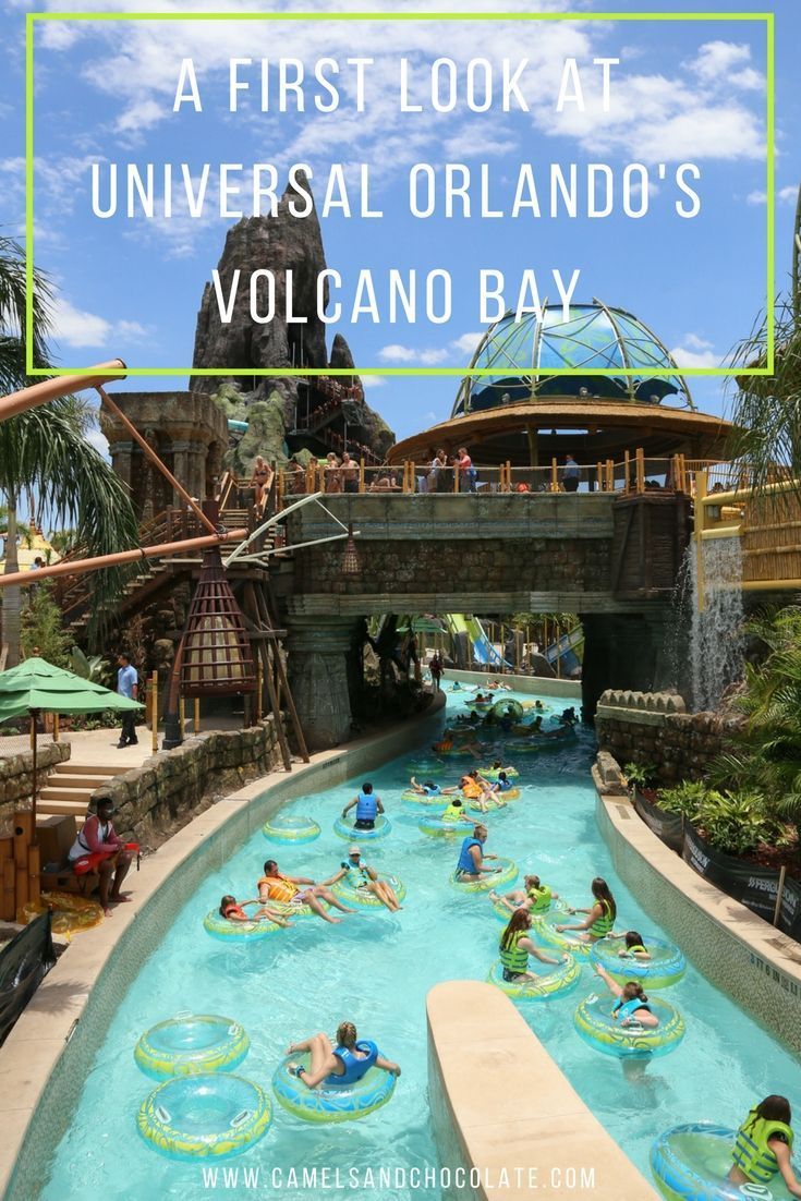 Everything You Need to Know About Universal Orlando's Volcano Bay. Two weeks ago, I got a sneak peek at the revolutionary water theme park that's going to take the family vacation world by storm: I went to the opening of Universal's Volcano Bay in Orlando. Universal created an entire story around the fabled Pacific islanders called the Waturi. And when Universal carves out a theme, it sticks to it. There are tribal design elements woven throughout Volcano Bay Water Park. | Camels and…