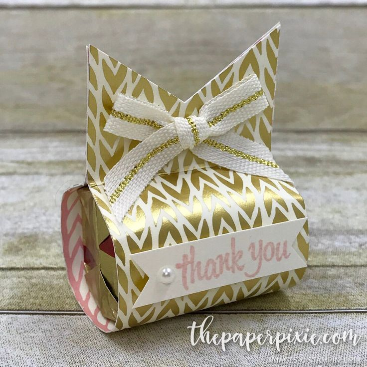 Today's project is a sweet little Hershey's Nugget treat holder using the Triple Banner Punch with Bundle of Love Designer Series Paper! Wouldn't this be perfect for a baby shower favor? All you need to do is change up the paper, sentiment and embellishments and use it for any occasion! It would be adorable as…