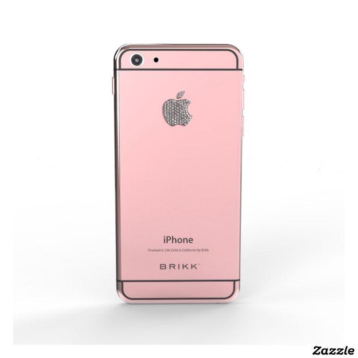 24k Rose Gold Black IPhone 6 With Diamond Logo