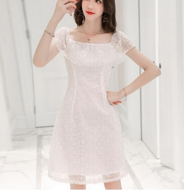 Fashion Women Strapless Bodycon Lace Dress Evening Party Cocktial Casual Dress