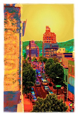 Art Print of Downtown Asheville