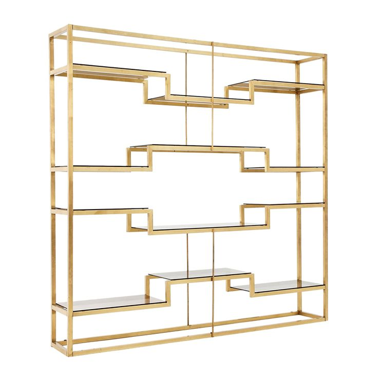Freestanding italian room divider shelving system for Room divider storage