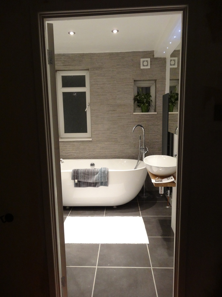32 best 50 shades of grey bathrooms images on pinterest for Grey and beige bathroom ideas