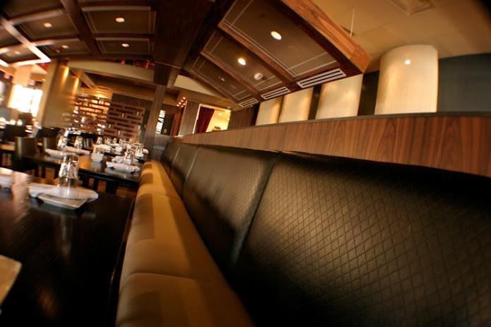 Super comfortable bench seats at Dragonfly Orlando.