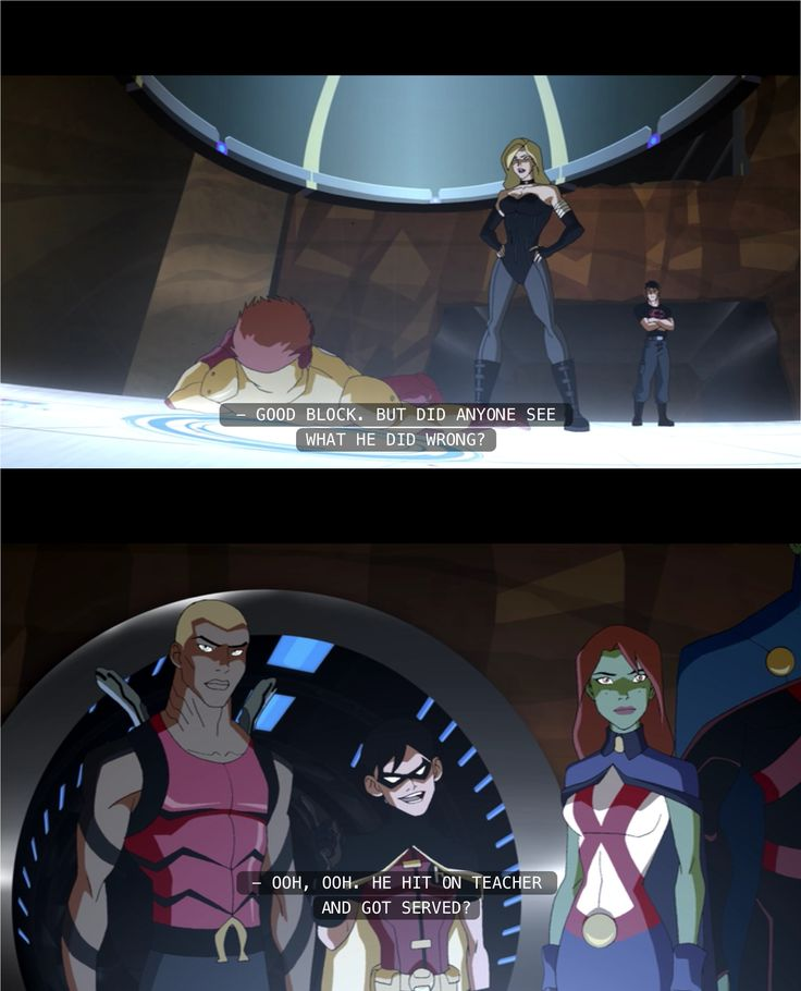 This was one of my favorite parts in young justice