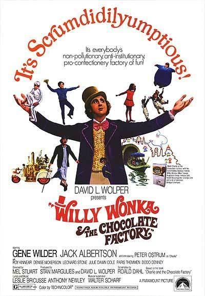 Classic movie poster from the 1971 classic, Willy Wonka and the Chocolate Factory. You can find 39 more classic movie posters from dark films for kids to commemorate the opening of The Hunger Games today on www.DeseretNews.com
