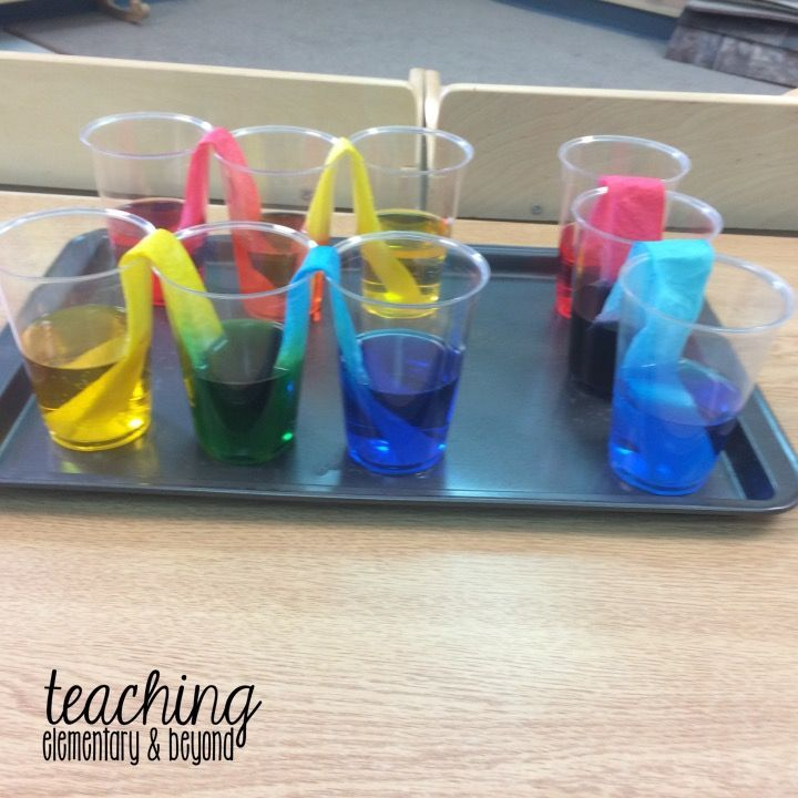 I love this fun color experiment for kids. Mixing colors is always a hit and is a great kindergarten or preschool provocation to teach primary and secondary colors. Teach science through a fun and engaging learning activity.