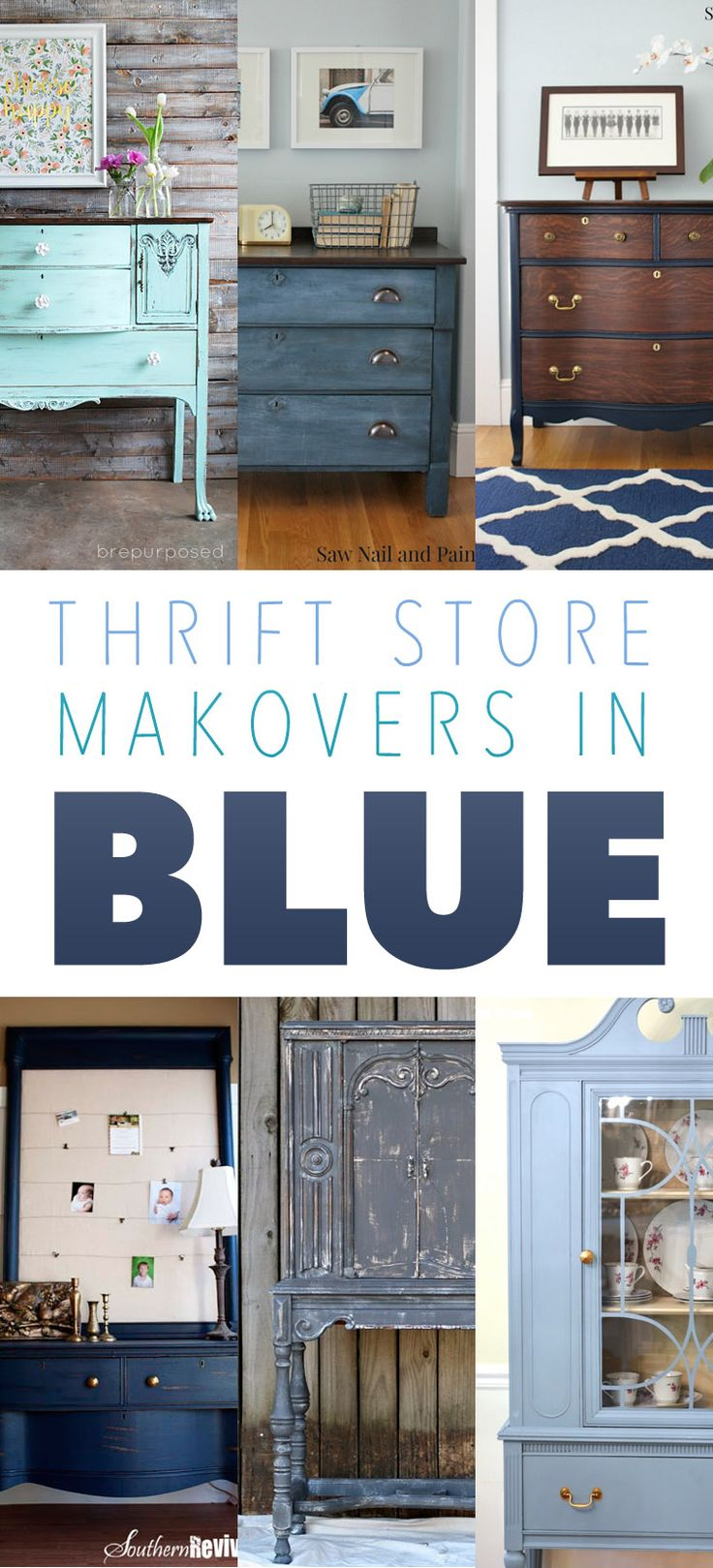 Thrift Store Makeovers has to be one of the most popular little segments here at The Cottage Market.  You really seem to enjoy the little collections of amazing makeovers…so today we have for your Thrift Store Makeovers in Blue!  Not just your run of the mill blue but gorgeous…yummy…simply divine shades from a powder blue …