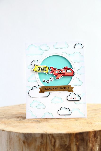 Stitched cloud backdrop (Lawn Fawn inspiration week)