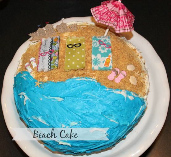 Birthday Cake Decoration Ideas At Home: 17 Best Ideas About Beach Birthday Cakes On Pinterest