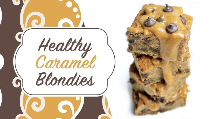 Healthy Caramel Chickpea Blondies (Vegan, Gluten free, Refined sugar free)