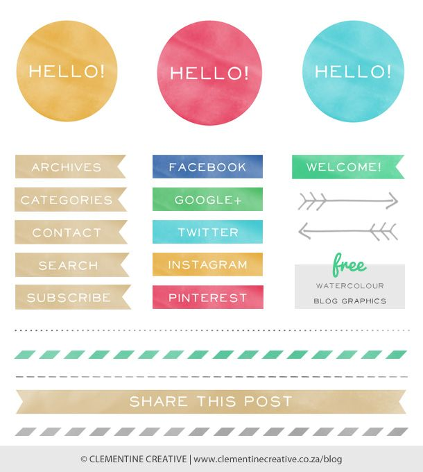 This post has several free blog graphics that will help you customize your site!