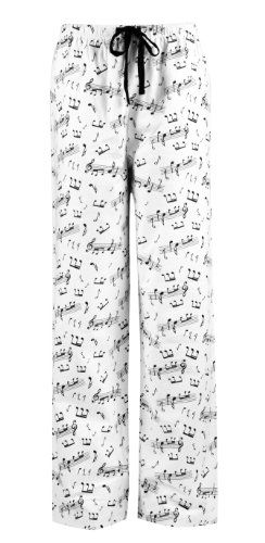 Leisureland Women's Cotton Pajama Flannel Sleep Pants Music Notes - Listing price: $35.99 Now: $16.99