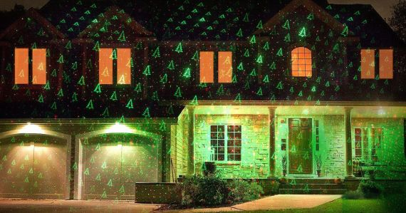 Tired of hanging up Christmas lights? Grab this 1byone Outdoor Christmas Light Projector instead!