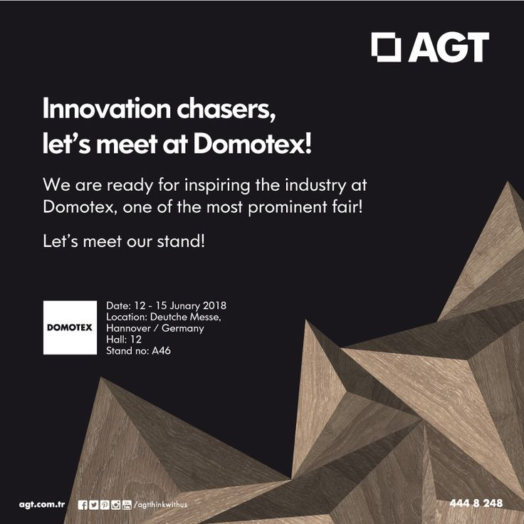 Innovation chasers, let's meet at Domotex! We're ready for inspiring the industry at Domotex, one of the most prominent fair.  Let's meet our stand!