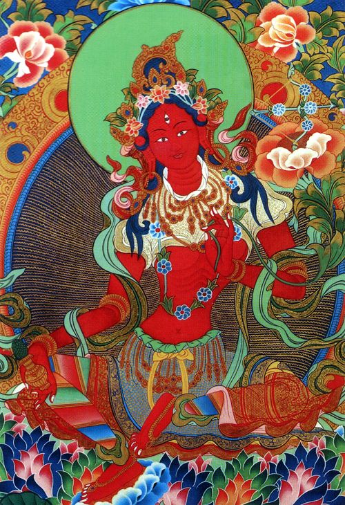 Red Tara (the different colors of Tara correspond to different spiritual forces in the Buddhist tradition)