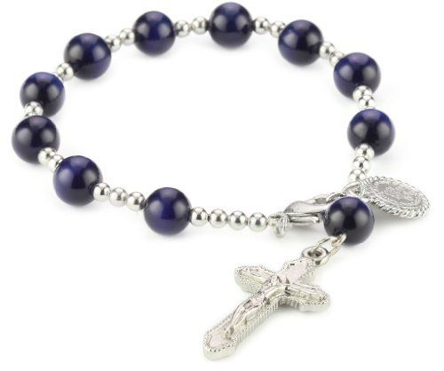 "The Vatican Library Collection Navy Rosary Bracelet The Vatican Library Collection. $27.00. Measures: 7""L X 1/4""W"