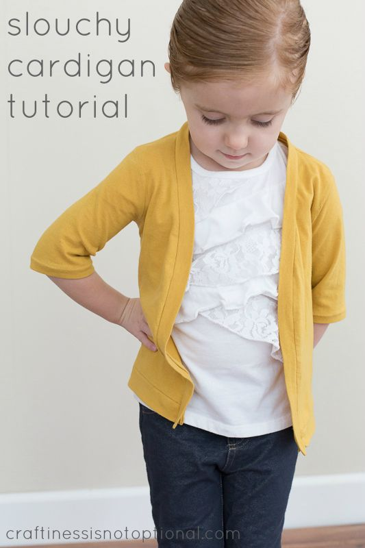 craftiness is not optional: slouchy cardigan tutorial (adaptable for grown-ups too)