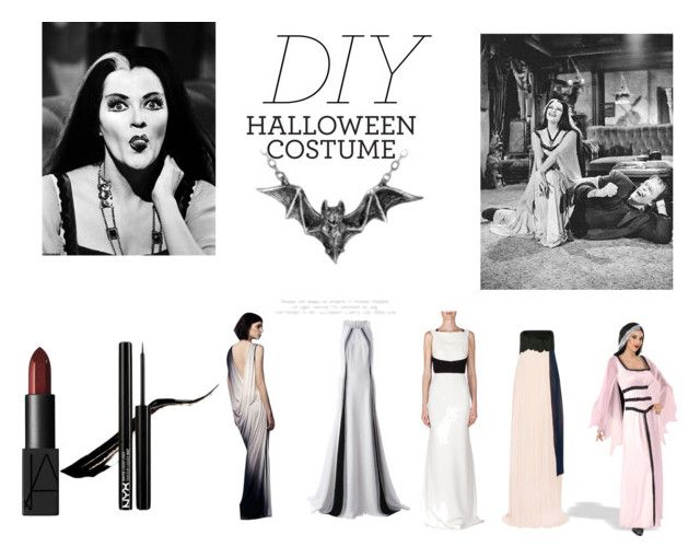 """DIY Halloween Costume: Lily Munster"" by len-groenewald ❤ liked on Polyvore featuring Yvonne, Helmut Lang, Linda Farrow, Roland Mouret, Issa, NARS Cosmetics, contest, contestentry and diyhalloweencostume"