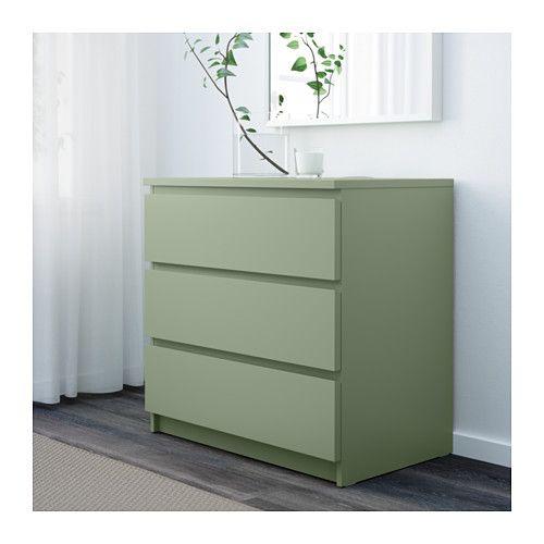 MALM Ladekast 3 lades - lichtgroen - IKEA