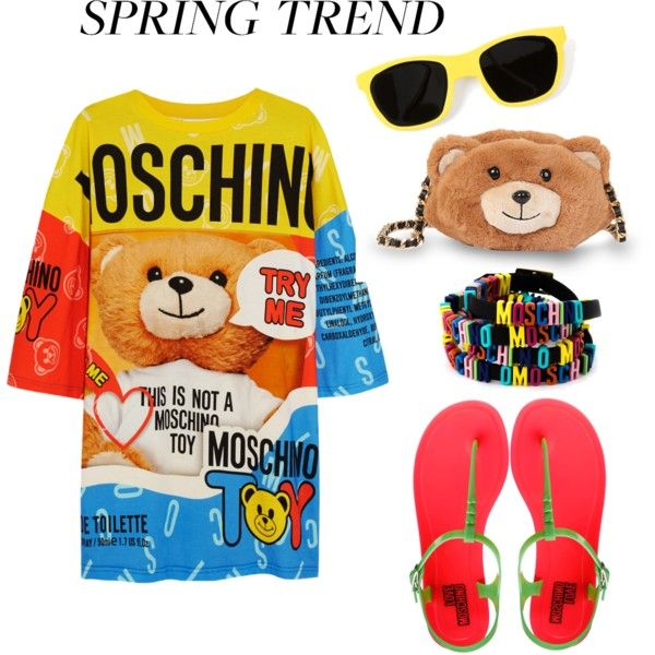 Moschino Jelly Sandals-Spring Trend-Contest Entry by silvia-f-alex on Polyvore featuring Moschino