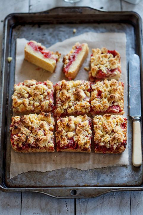 Strawberry Crumble bars   Simply Delicious